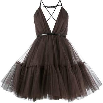 Brognano Flared Tulle Mini Dress