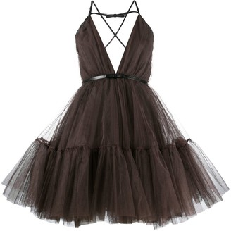 Flared Tulle Mini Dress