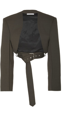 Peter Do Bolero Belted Cropped Crepe Jacket