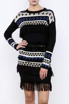 English Factory Geo Fringe Sweater
