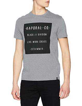 Kaporal Men's Prizz T-Shirt, (Medium Grey Mel Medgrm), X-Large
