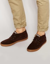 Fred Perry Byron Mid Suede Chukka Boots - Brown