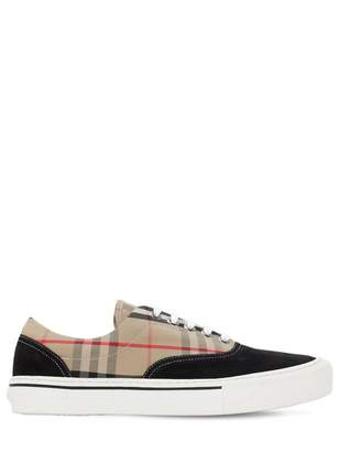 Burberry Beige Cloth Trainers