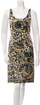 Chloé Scoop Neck Printed Dress