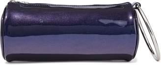 Kara Duffel Metallic Patent-leather Clutch
