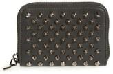 Christian Louboutin Women's 'Panettone' Zip Around Calfskin Leather Wallet - Black