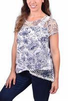 Ethyl Open-Weave Layered Top