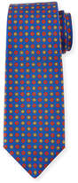 Kiton Neat Circle-Medallion Printed Silk Tie