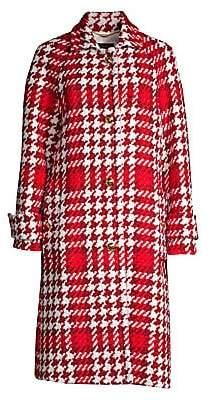 Escada Women's Myrna Houndstooth Tweed Coat
