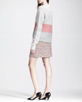 Proenza Schouler Paneled Mixed-Knit Sweater