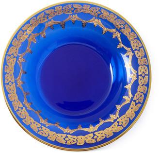 Neiman Marcus Blue Oro Bello Soup Bowls, Set of 4