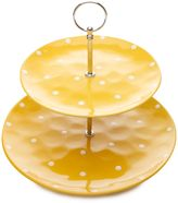 Maxwell & Williams Maxwell & WilliamsTM Sprinkle 2-Tier Cake Stand in Yellow