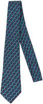 One Kings Lane Vintage Hermès Emerald Green & Blue Buckles Tie