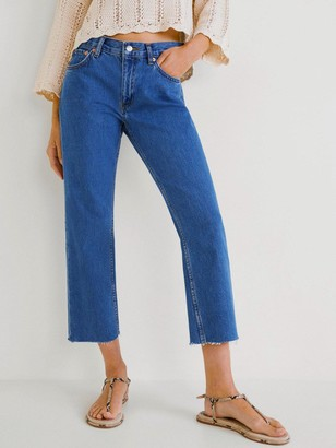 MANGO Cropped Jeans - Blue