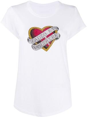 Zadig & Voltaire rhinestone-embellished logo T-shirt