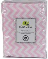 Kidiway 1572 kidicomfort Fitted Sheets - 100% Cotton - Pink Chevron
