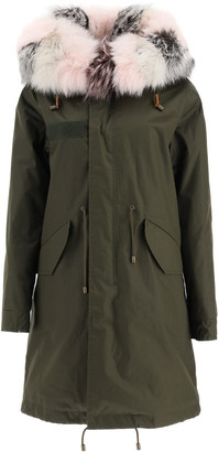 Mr & Mrs Italy Long Jazzy Parka With Fox Fur