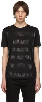 Fendi Black FF Track Shirt