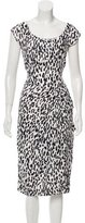 Michael Kors Abstract Print Silk Dress