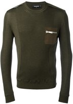 DSQUARED2 knitted chest pocket pullover - men - Wool - S