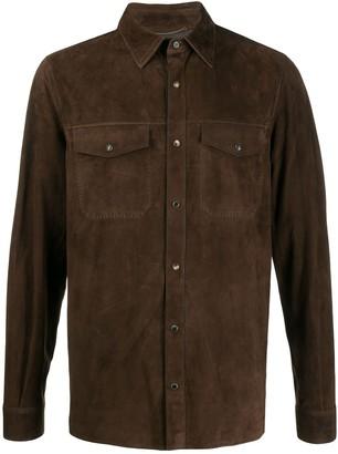 Ajmone Suede Button Shirt