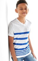 Gap Stripe V-neck pocket tee