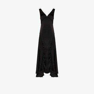 Jil Sander Marigold piping detail sleeveless gown