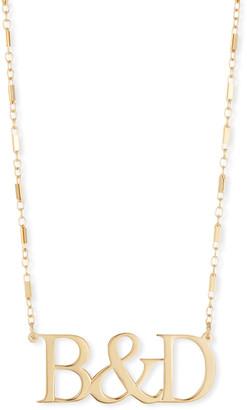 Jennifer Zeuner Jewelry Jack Initial Pendant Necklace