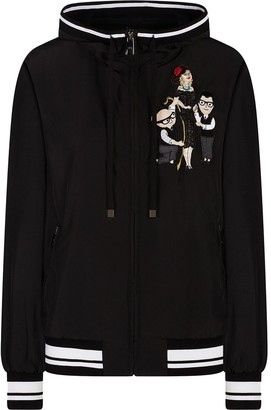 Dolce & Gabbana Tailored Character-Embroidered Hoodie