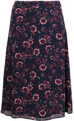 Tommy Hilfiger Floral-Print Midi Skirt