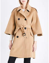Burberry Ladies Camel Luxury Dennington Wool And Cashmere-Blend Coat