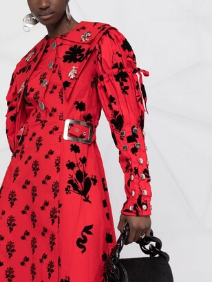 Chopova Lowena Buckled-Waist Dress