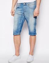 Wrangler Denim Short Norton Straight Fit Long Torrent Wash - Blue