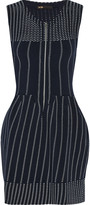 Maje Romuald pleated stretch-knit mini dress