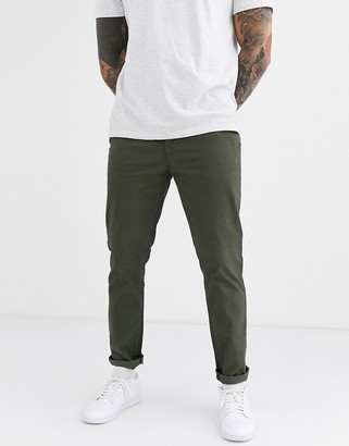 Burton Menswear slim chinos in khaki