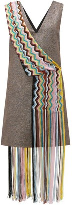 M Missoni Vintage Scarf Lame Mini Dress - Red Multi