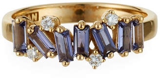 Kalan By Suzanne Kalan Amalfi 14k Diamond-Round Iolite Ring, Size 6