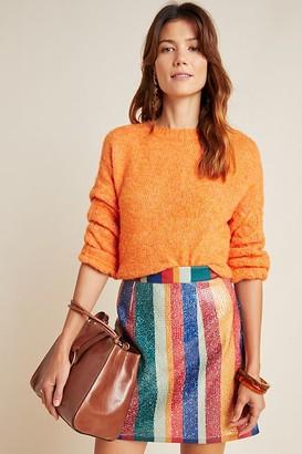 Geisha Designs Rainbow Sequinned Mini Skirt