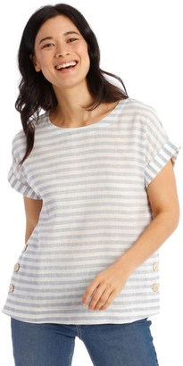 Regatta Short Sleeve Top With Button Sides
