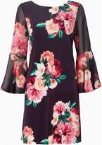 Eliza J Bell sleeve floral shift dress