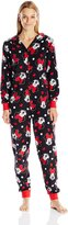 Disney Women's All-Over Print Minnie Mouse Onesie Pajama