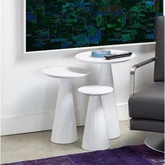 Mobital Newsome Low End Table Color: High Gloss White