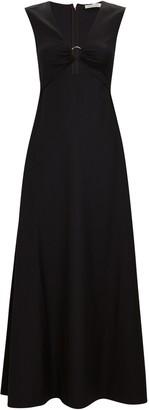 ANNA QUAN Verner Wool Cut-Out Maxi Dress