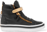 Giuseppe Zanotti Embellished leather high-top sneakers