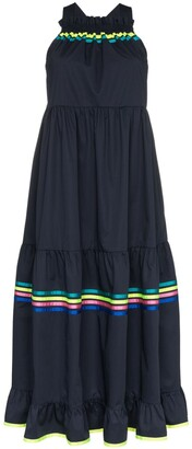 Mira Mikati Stripe Detail Tiered Maxi Dress