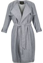 River Island Womens RI Plus blue trench coat