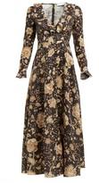 Zimmermann Veneto Floral-print Linen Dress - Womens - Brown