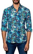 Jared Lang Spread Collared Floral Print Sportshirt