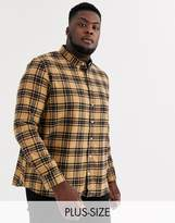 Burton Menswear Big & Tall checked shirt in charcoal