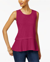 Style&Co. Style & Co Cotton Peplum-Hem Top, Only at Macy's